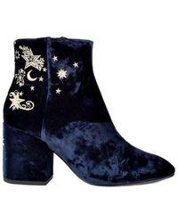 Ash - Elixir Nadine Velvet Embroidered Boots - Lyst