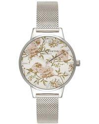 Olivia Burton - Parlour Mesh Strap Watch - Lyst