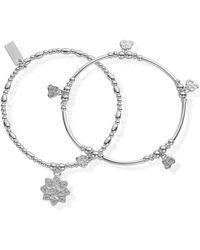 ChloBo - Cherabella Mantra Set Of 2 Bracelets - Lyst