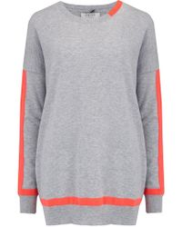 Cocoa Cashmere - Tipped Crew Jumper - Lyst