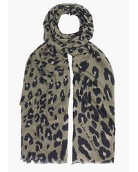 Lily and Lionel - Textured Leopard Scarf - Lyst