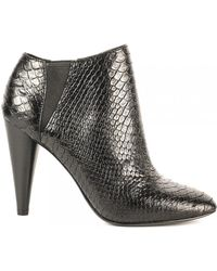 Ash - Beverly Python Textured Ankle Boots - Lyst