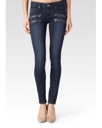 PAIGE - Edgemont Mid Rise Skinny Jeans - Lyst