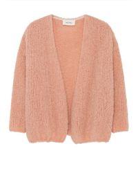 American Vintage Boolder Long Sleeve Cardigan - Pink