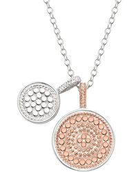 Anna Beck - Reversible Double Disc Charm Necklace - Lyst
