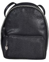 5c06f79588af Stella McCartney - Falabella Backpack Mini Shaggy Deer Silver Chain - Lyst