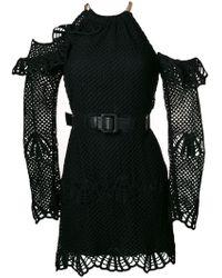 Self-Portrait - Belted Halterneck Dress - Lyst