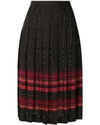 Marco De Vincenzo - Plaid Pleated Skirt - Lyst