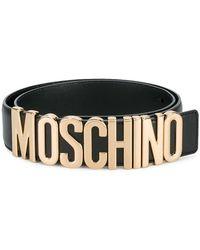 Moschino - Logo Belt With Gold-tone Hardware - Lyst