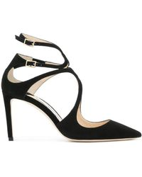 863ced5e0 Lyst - Jimmy Choo Black Suede 'agnes' Stiletto Pumps in Black