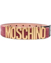 Moschino - Adjustable Logo Belt - Lyst