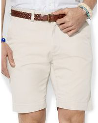 "Polo Ralph Lauren - Classic Fit Flat Front 9"" Chino Short - Lyst"