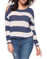 Dex | Stripe Cold-shoulder Sweater | Lyst