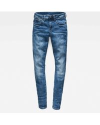 G-Star RAW - Lynn D Mid Waist Super Skinny Jeans - Lyst