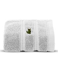 Lacoste - Solid Cotton Face Towel - Lyst