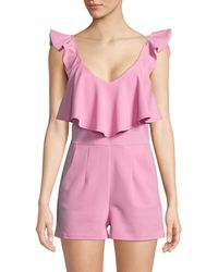 Lord & Taylor - Ruffle Top Romper - Lyst