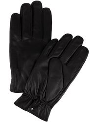 CALVIN KLEIN 205W39NYC - Snap Closure Leather Gloves - Lyst