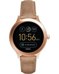 Fossil - Gen 3 Smartwatch - Q Venture Sand Leather - Lyst