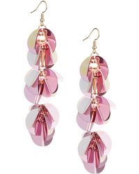 Lord & Taylor - Cascading Paillette Cluster Drop Earrings - Lyst
