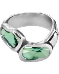 Uno De 50 - Crystal Classic Deep Eyes Statement Ring - Lyst