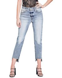 Guess | Authentic It Girl Raw Hem Jeans | Lyst
