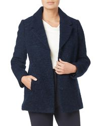 Eastex - Short Wool-blend Boucle Coat - Lyst