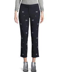 Marella | Loretta Striped Floral Pants | Lyst