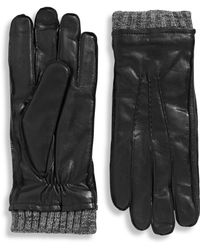 Black Brown 1826 - Three Point Gloves With Knit Cuff And Thinsulate Lining - Lyst