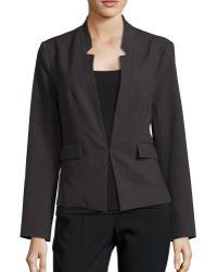 Ellen Tracy - Reverse Notch Collar Jacket - Lyst