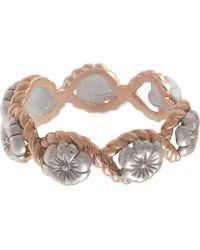 Olivia Burton - Flower Charm Rope Ring - Lyst