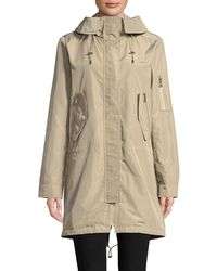 Vince Camuto - Zip Hooded Anorak - Lyst