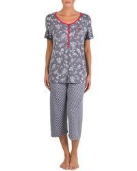 Claudel - Two-piece Printed Pyjama Set - Lyst