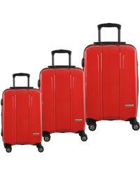 McBrine - Three-piece Lightweight Upright Swivel Expandable Luggage Set - Lyst