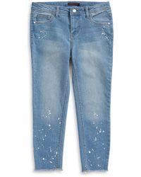 Material Girl | Paint Splatter Crop Jeans | Lyst