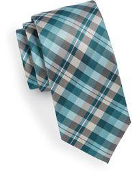 Geoffrey Beene - Checkered Silk-blend Tie - Lyst