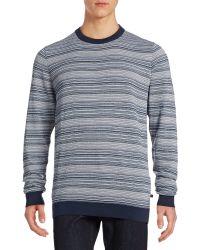Bugatti - Skinny Striped Cotton Sweater - Lyst