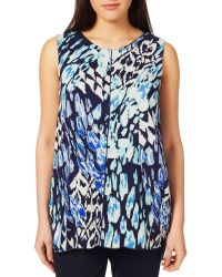 Windsmoor - Animal-printed Sleeveless Blouse - Lyst