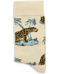 TOPMAN - Cotton-blend Leopard Socks - Lyst