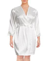 Jones New York - Plus Bridal Lace-trim Satin Wrap - Lyst