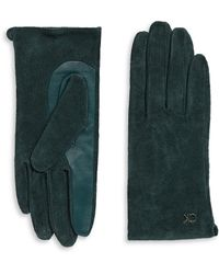 Calvin Klein   Suede And Leather Gloves   Lyst