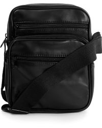 TOPMAN - Faux Leather Small Messenger Bag - Lyst