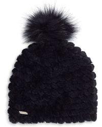 CALVIN KLEIN 205W39NYC - Faux Fur Pom Pom Beanie - Lyst