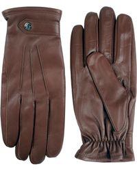Black Brown 1826 - Semi Aniline Leather Three-point Gloves - Lyst
