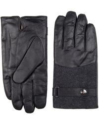 Dockers - Wool Plaid And Sheep Leather Gloves - Lyst