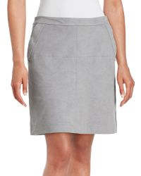 Two By Vince Camuto | Faux Suede Mini Skirt | Lyst