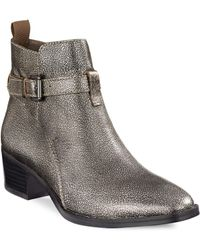 Lord & Taylor | Feogi Metallic Ankle Boots | Lyst