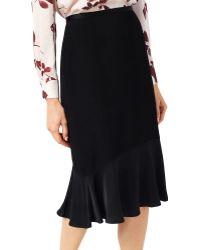 Jacques Vert - Solid Ruffled Skirt - Lyst