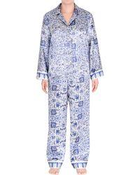 Jones New York - Satin Mandala Pajama Set - Lyst