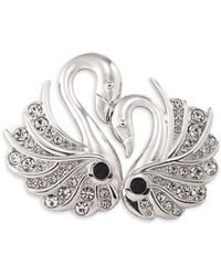 Carolee - Night At The Museum Silvertone Swans Of Love Pin - Lyst