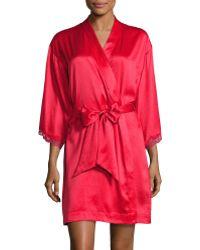 Triumph | Enchanted Christmas Print And Lace Kimono Robe | Lyst
